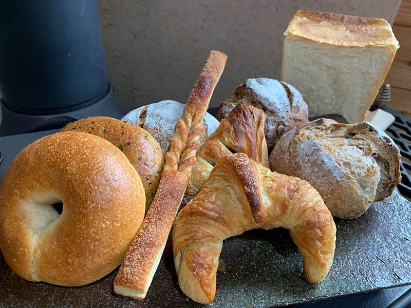 峠のパン屋キッチンストーブ